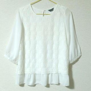 シマムラ(しまむら)のしまむらレース カットソー Tシャツ (カットソー(半袖/袖なし))