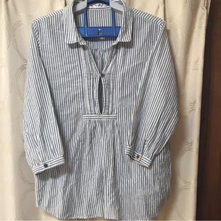 ムジルシリョウヒン(MUJI (無印良品))のシャツ  ストライプ   SALE✨(シャツ/ブラウス(長袖/七分))