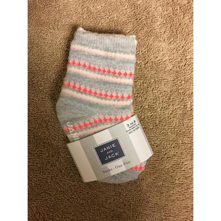 新品 未使用 ジャニーアンドジャック 靴下 ベビーソックス 新生児用 3〜6ヶ月(靴下/タイツ)
