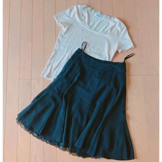 エフデ(ef-de)の夏のお仕事着セット*トップス&スカート ef-de(ひざ丈スカート)