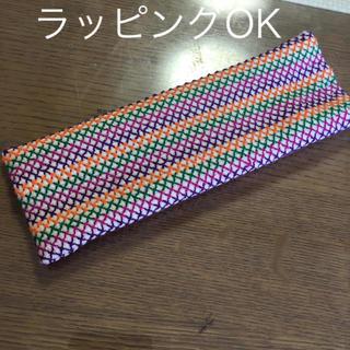 ハンドメイド  刺繍 メガネ、ペンケース(その他)
