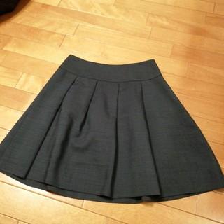 アナトリエ(anatelier)のクチュールブローチ アトリエ 36 ネイビースカート(ひざ丈スカート)