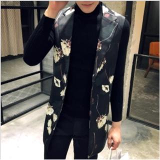 ☆SALE☆【新品】 ユニセックス アンティークロングベスト 【男、女兼用】(ベスト)