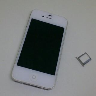 アイフォーン(iPhone)のiPhone4 Apple+SIMトレー 白 ジャンクA1332 格安部品取(スマートフォン本体)