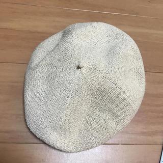 グローブ(grove)のグローブ メッシュベレー帽 ベージュ新品 グローバルワークローリーズファーム (ハンチング/ベレー帽)
