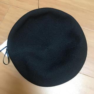 ローリーズファーム(LOWRYS FARM)のローリーズファーム  ベレー帽 ブラック 新品(ハンチング/ベレー帽)