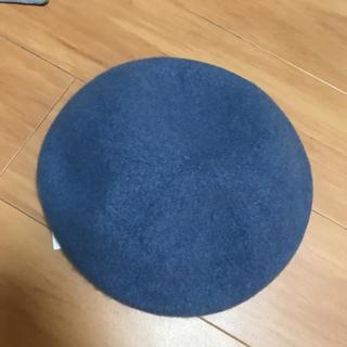 ローリーズファーム  フェルトベレー帽 ブルー レア 新品 グローバルワーク(ハンチング/ベレー帽)
