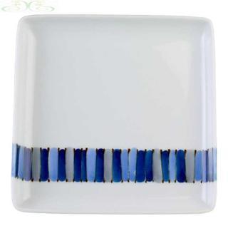 白山陶器 キルト 多用角皿(食器)