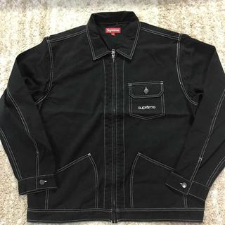シュプリーム(Supreme)のSupreme Contrast Stitch Work Jacket 黒XL(ブルゾン)