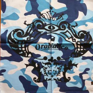 オロビアンコ(Orobianco)のオロビアンコ迷彩柄ブルー系ハンカチ  (ハンカチ/ポケットチーフ)