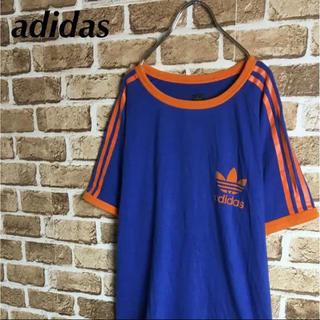 アディダス(adidas)のカリフォルニア! 復刻 adidas Tシャツ ゲームシャツ ロゴ 青 橙 M(Tシャツ/カットソー(半袖/袖なし))