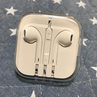 アイフォーン(iPhone)のiphone 新品イヤホン(ヘッドフォン/イヤフォン)