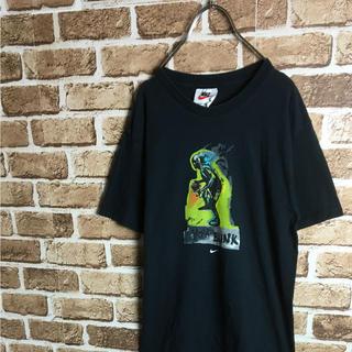 ナイキ(NIKE)の超レア! 90s USA製 NIKE バスケットマン ロゴ Tシャツ 黒 Mわ(Tシャツ(半袖/袖なし))