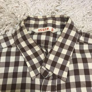 フォーティーファイブアールピーエム(45rpm)の45RPM  半袖 メンズ チェックシャツ (シャツ)