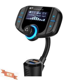 FMトランスミッター Bluetooth4.2対応 急速充電可3A+(車内アクセサリ)