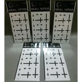 【送料無料】 5枚セット!! ワンポイント タトゥーシール (十字架) クロス(その他)