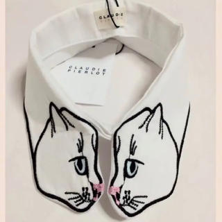 CLAUDIE PIERLOT 猫 つけ襟 【新品・未使用】(つけ襟)
