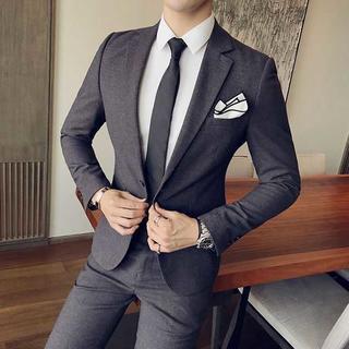 定番 メンズスーツ ビジネス 披露宴 zb485(セットアップ)