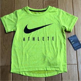 ナイキ(NIKE)の新品 半額 ナイキ Tシャツ 黄色 キッズ DRY-FIT 120(Tシャツ/カットソー)