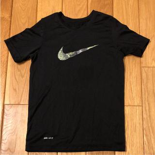 ナイキ(NIKE)のナイキ Tシャツ キッズ Sサイズ 黒 130(Tシャツ/カットソー)