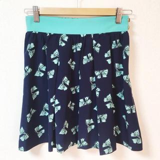 アクアガール(aquagirl)のaquagirl ON THE STREET♡リボン柄スカート(ミニスカート)
