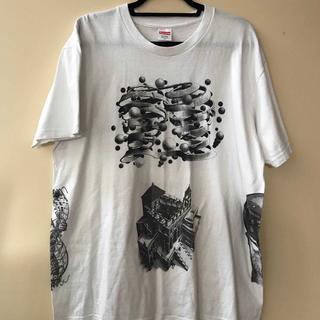 シュプリーム(Supreme)のSUPREME×M.C. Escher Collage Tee 白XL(Tシャツ/カットソー(半袖/袖なし))