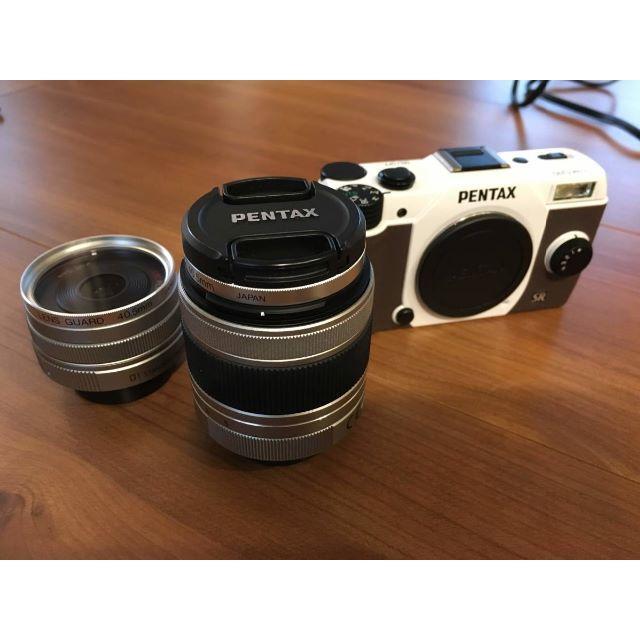 PENTAX(ペンタックス)のweedさん専用 PENTAX Q10 ズームレンズキット+単焦点レンズ スマホ/家電/カメラのカメラ(ミラーレス一眼)の商品写真