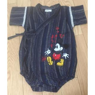 ディズニー(Disney)のロンパース 甚平 ミッキー 70 ディズニー 浴衣 Disney(甚平/浴衣)