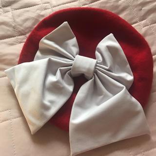 限定お値下げ!おリボンベレー帽♡赤(ハンチング/ベレー帽)
