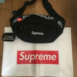 シュプリーム(Supreme)の SUPREME 18ss Waist Bag ウエストバッグ black 黒(ウエストポーチ)