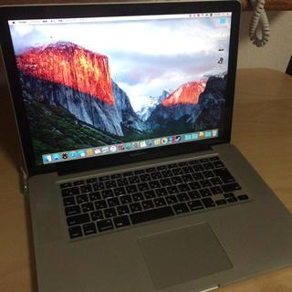 マック(Mac (Apple))のMacBookpro 2009 15インチ(ノートPC)
