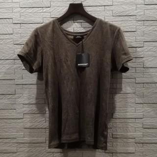 ゴーサンゴーイチプールオム(5351 POUR LES HOMMES)の5351プールオム シワ加工 クラッシュテレコ カットソー / シェラック(Tシャツ/カットソー(半袖/袖なし))
