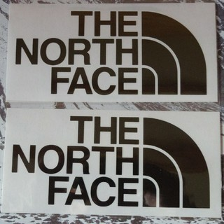 THE NORTH FACE - ノースフェイス 切り文字 ステッカー カッティング 正規品 黒 2枚