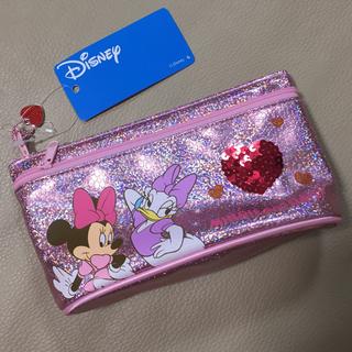 ディズニー(Disney)の123【新品】ディズニー ミニー&デイジー コスメポーチ 化粧ポーチ ピンク(ポーチ)
