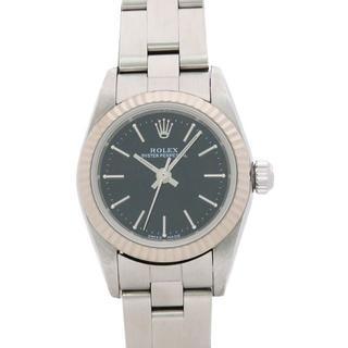ロレックス(ROLEX)のロレックス ROLEX OYSTER PERPETUAL ブラック文字盤(腕時計)