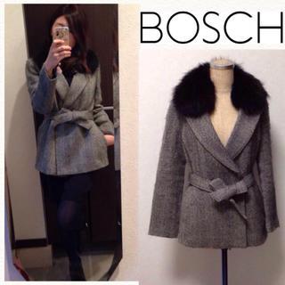ボッシュ(BOSCH)のボッシュ ラクーンファーのキレイめコート(ピーコート)