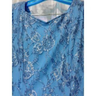 美品 社交ダンスブルーの涼やかなドレス(その他ドレス)