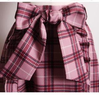 トッコ(tocco)の🌸 大人気完売品🌸甘トラッドなフリルつきチェック柄ウエストリボンスカート (ひざ丈スカート)