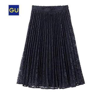 GU - 新品G.U.レースプリーツスカート ジーユー