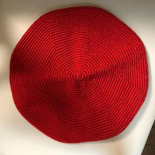 FUMIKA UCHIDA コットンリネンベレー レッド(ハンチング/ベレー帽)