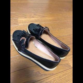 オリエンタルトラフィック(ORiental TRaffic)のオリエンタルトラフィック ローファー  厚底 タッセル付き ブラック エナメル(ローファー/革靴)