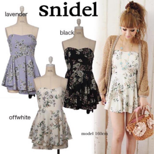 snidel(スナイデル)のsnidel*マーガレット*送料込 レディースのパンツ(オールインワン)の商品写真