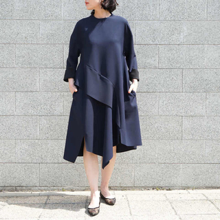 ENFOLD - 新品 ENFOLD PE Double Random Hem Dress
