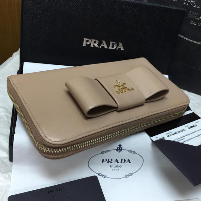 378c09a43787 PRADA - 美品✨PRADA長財布✨サフィアーノ✨リボン✨ラウンドジップ ...