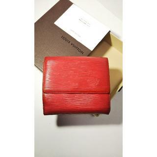 ルイヴィトン(LOUIS VUITTON)の★ルイヴィトン Wホック財布 エピ レッド折財布★748G12(財布)