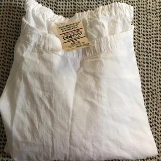 MUJI (無印良品) - 送料込 無印良品 今季 オーガニックコットン楊柳七分袖ブラウス XS~S・白