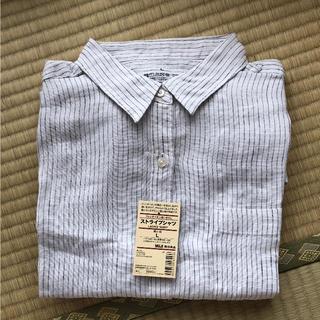 ムジルシリョウヒン(MUJI (無印良品))の新品タグ付き!無印良品 ストライプシャツ(シャツ/ブラウス(長袖/七分))
