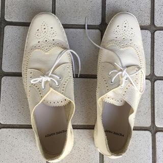 ピエールアルディ(PIERRE HARDY)のカッター靴 37 ピエールアルディ 白革 美品(スリッポン/モカシン)
