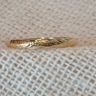 ピンキーリング ハワイアン k18  size2.5(リング(指輪))