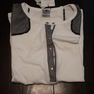 コロモバイデコスガイ(COROMO by DECO SUGAI)の新品。吸汗、速乾黒レースTシャツ(Tシャツ(半袖/袖なし))